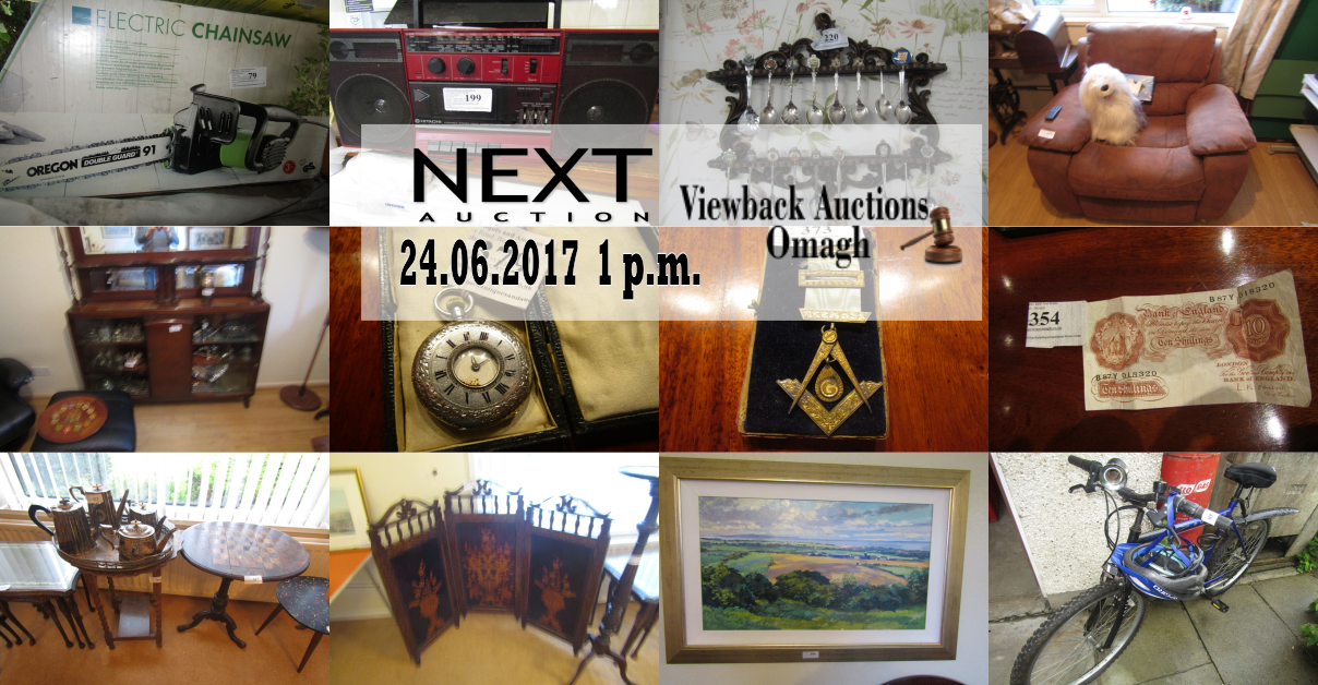 House Clearance With Antiques Viewback Auctions Omagh